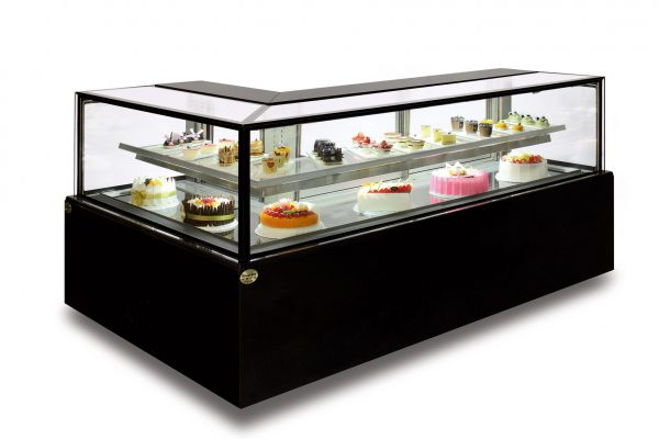 L-shape Rectangular Cake Showcases